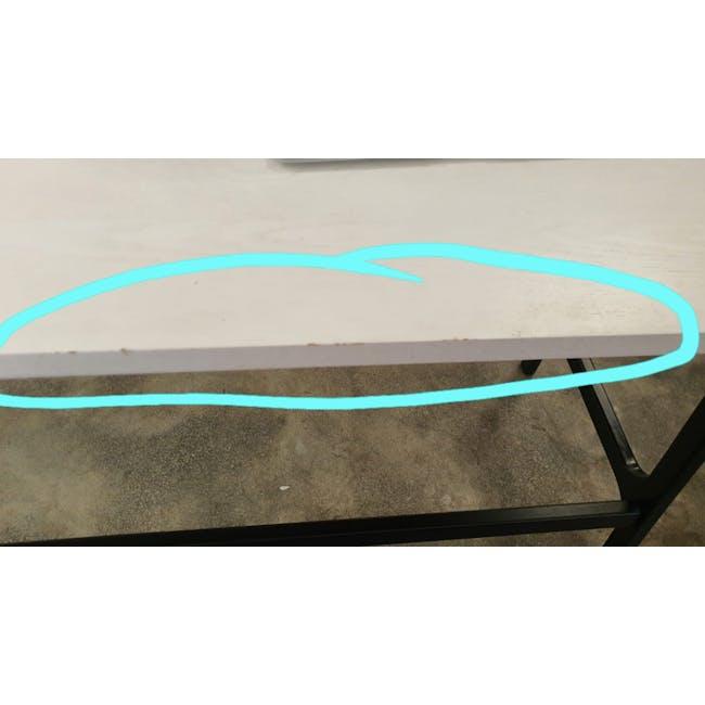 (As-is) Myron Rectangle Coffee Table - White, Matt Black - 6