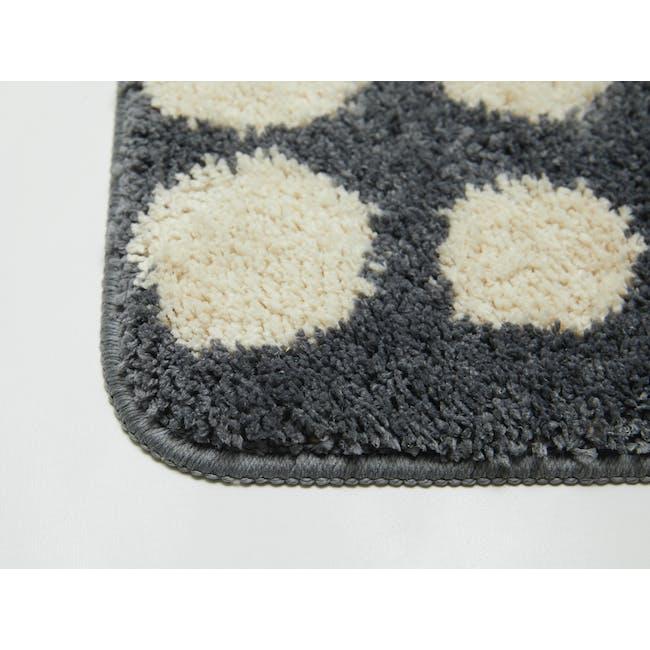 Retro Dots Floor Mat - Grey - 1