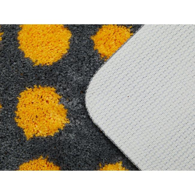 Retro Dots Floor Mat - Grey - 3