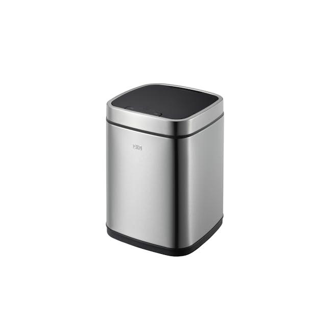 EKO Ecosmart Stainless Steel Square Motion Sensor Bin - Brushed (2 Sizes) - 2