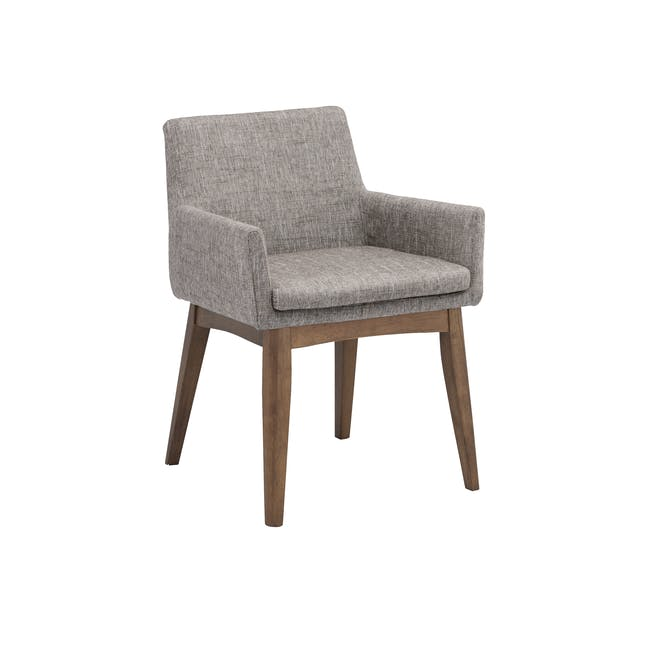 Clarkson Dining Table 2.2m in Cocoa with 4 Fabian Chairs in Cocoa, Dolphin Grey - 15
