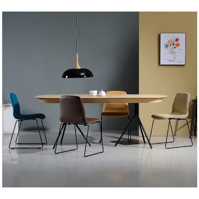 Ava Dining Chair - Matt Black, Emerald - 11
