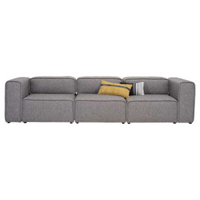 Acura 3 Seater Sofa - Pebble - Image 1
