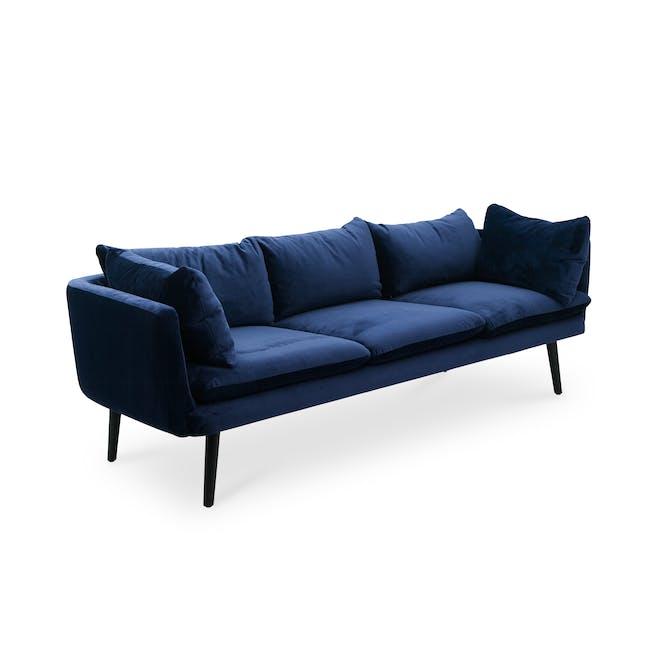 Sable 3 Seater Sofa - Peacock (Velvet) - 1