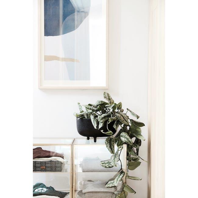 Jela Planter with Legs - Black - 2