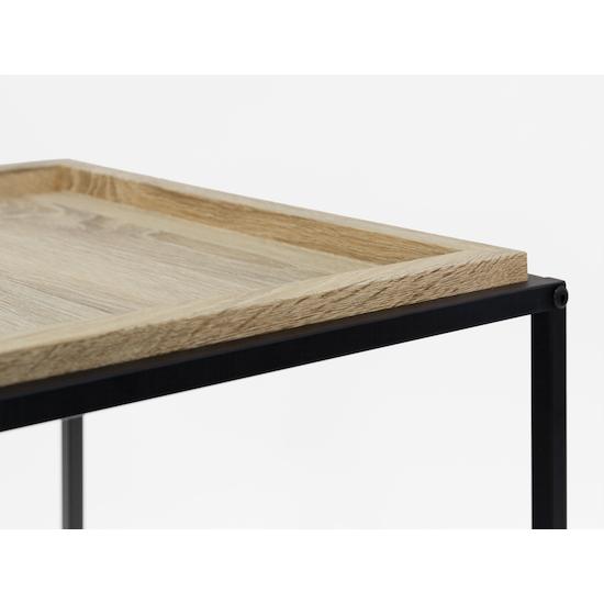 Glass and Metal - Dana Console Table 1.1m - Oak