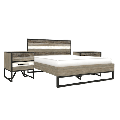 Xavier King Bed with 2 Xavier Bedside Tables - Image 1