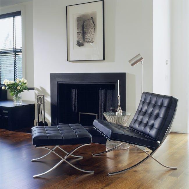 Barcelona Chair with Barcelona Ottoman - Black (Genuine Cowhide) - 1