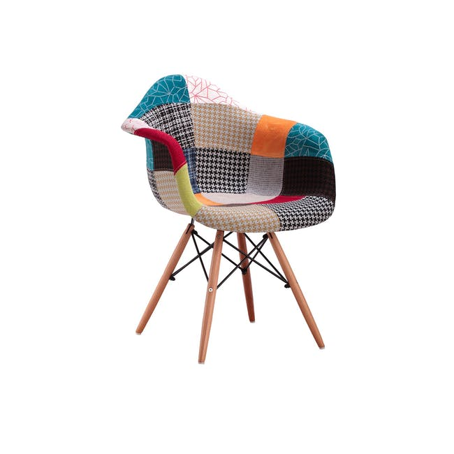 DAW Chair Replica - Natural, Patchwork - 0