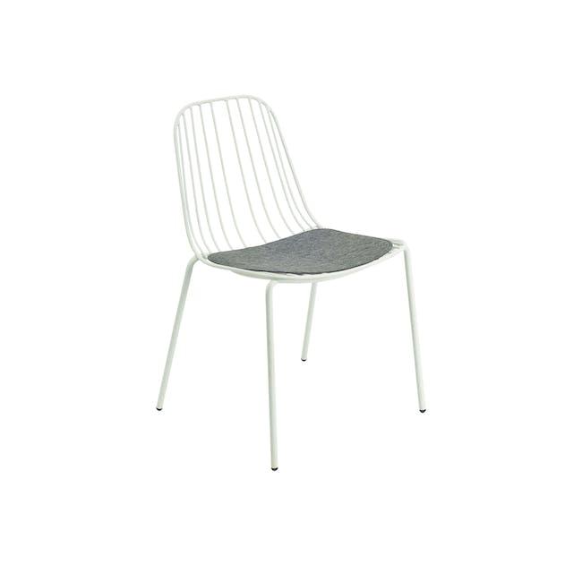 Nerissa Outdoor Dining Chair - Matt White - 0