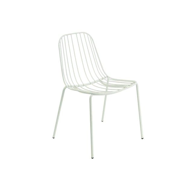 Nerissa Outdoor Dining Chair - Matt White - 1