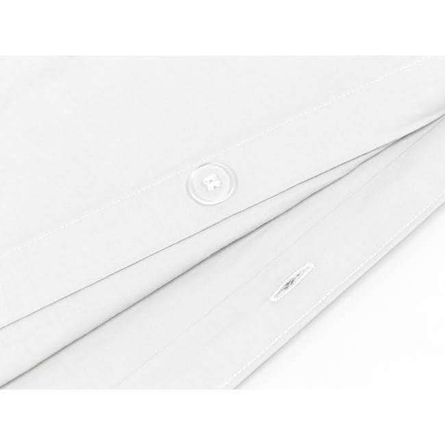 (Super Single) Aurora Duvet Cover 4-pc Set - White - 2