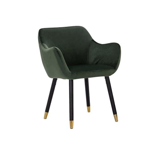Aubree Dining Armchair - Olive Green (Velvet) - 0