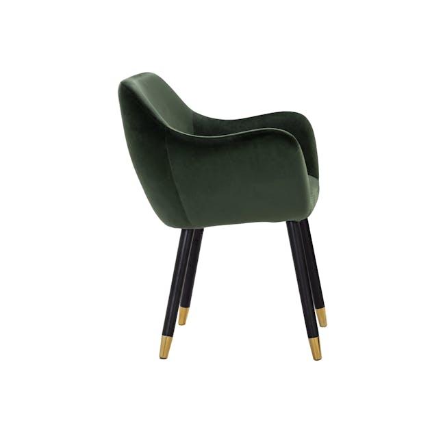 Aubree Dining Armchair - Olive Green (Velvet) - 3