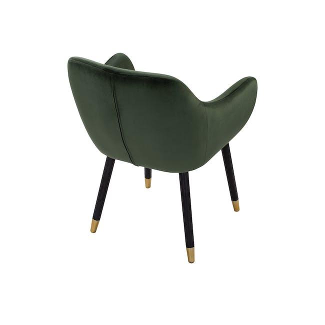 Aubree Dining Armchair - Olive Green (Velvet) - 4