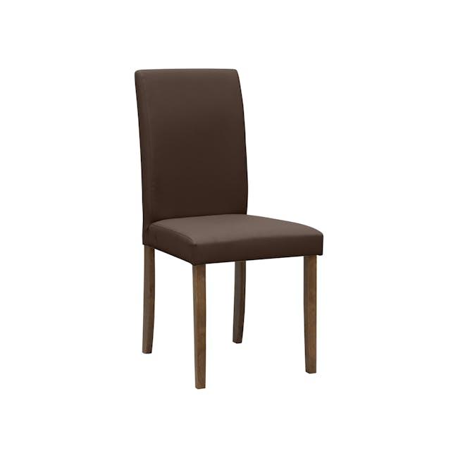 Dahlia Dining Chair - Cocoa, Mocha (Faux Leather) - 5