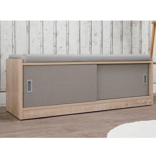 Echo Shoe Cabinet - Oak - 3