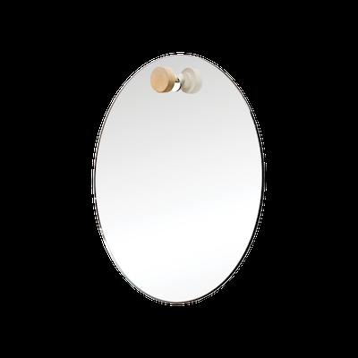 Lotus Round Hanging Mirror - 48 cm - Image 2