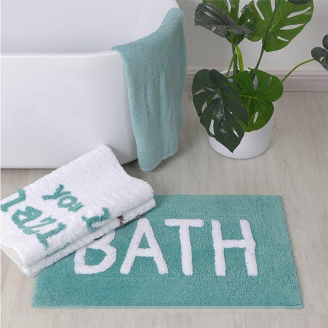 Sarah Floor Mat - Bath Turquoise - 1