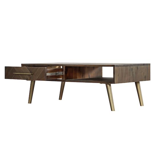 HipVan Bundles - Cadencia Twin Drawer Coffee Table with Cadencia Side Table