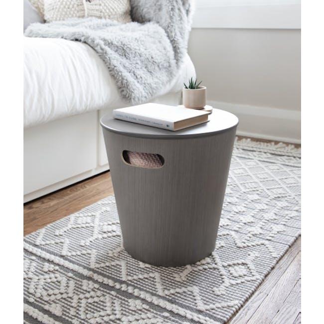 Woodrow Storage Stool - Grey - 1