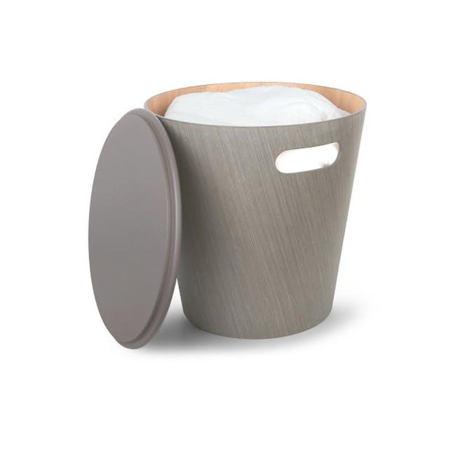 Woodrow Storage Stool - Grey - 0