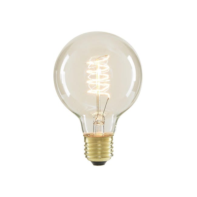 Edison G80 Spiral Globe Filament Bulb - 0