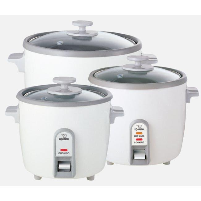 Zojirushi Traditional Rice Cooker NH-SQ - White (3 Sizes) - 3