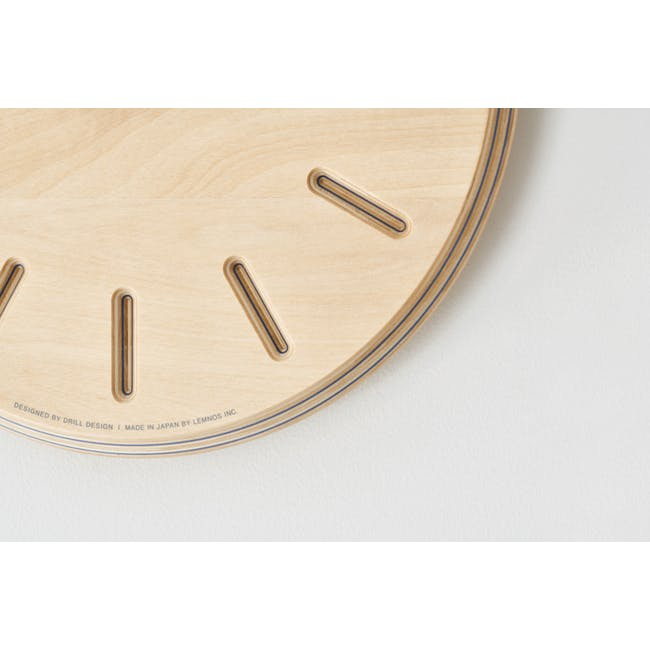 Line Paper-Wood Clock - Green - 1