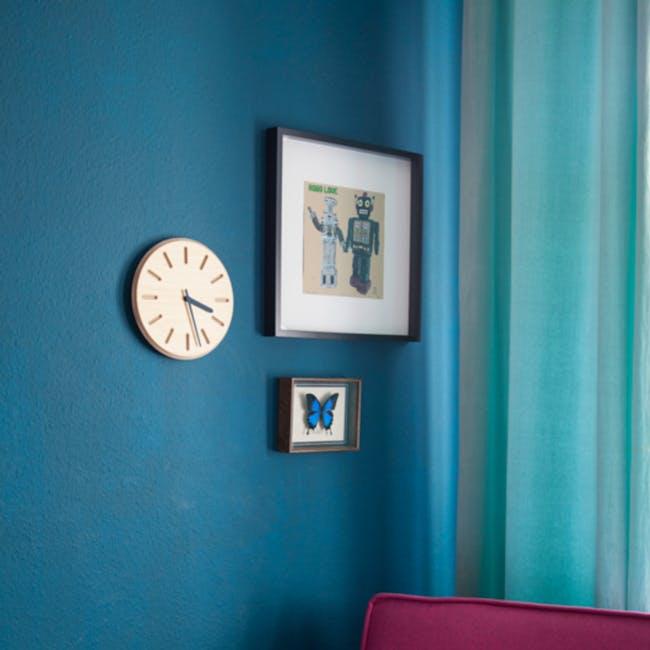 Line Paper-Wood Clock - Green - 5