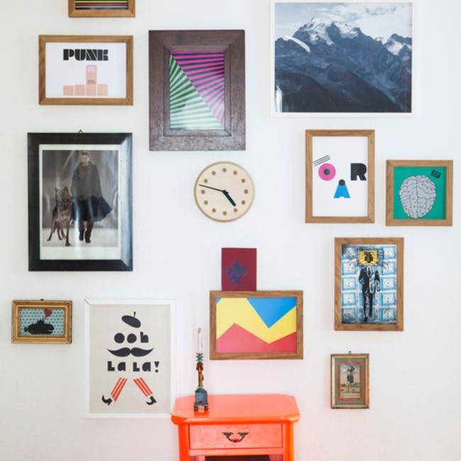 Line Paper-Wood Clock - Green - 4
