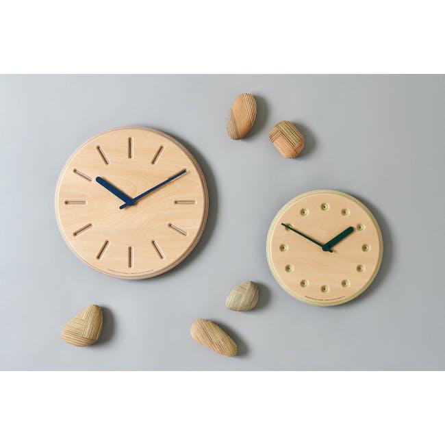 Line Paper-Wood Clock - Green - 2