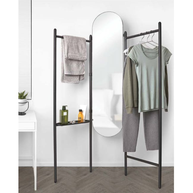 Vala Floor Mirror - Black - 6