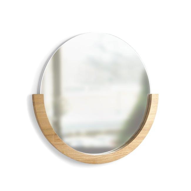 Mira Round Mirror 53 cm - Natural - 1
