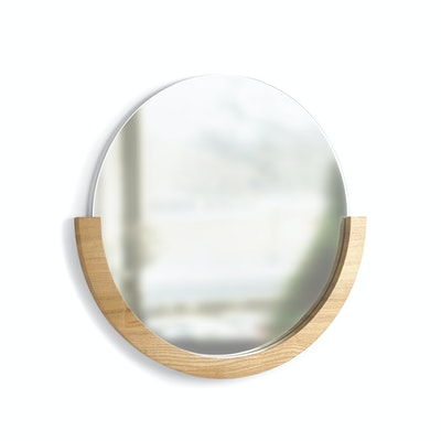 Mira Round Mirror 53 cm - Natural - Image 1