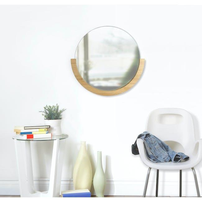 Mira Round Mirror 53 cm - Natural - 5