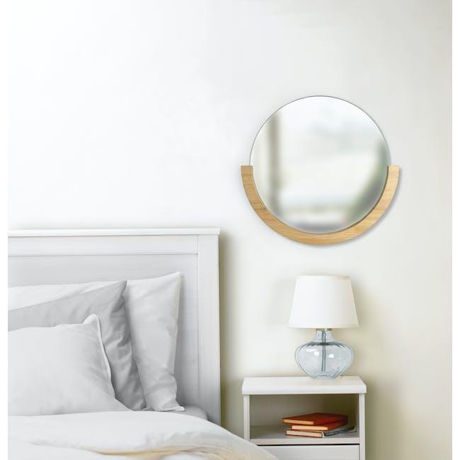 Mira Round Mirror 53 cm - Natural - 7