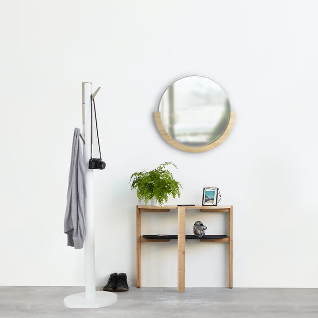 Mira Round Mirror 53 cm - Natural - 6