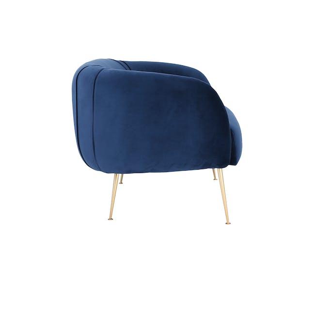 Alero 2 Seater Sofa with Alero Armchair - Midnight Blue - 8