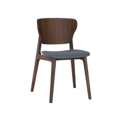 Fabiola Dining Chair - Dim Grey, Walnut - Image 1