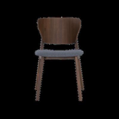 Fabiola Dining Chair - Dim Grey, Walnut - Image 2
