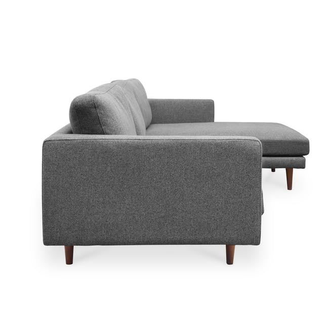 Declan L-Shaped Sofa - Walnut, Storm Grey - 4