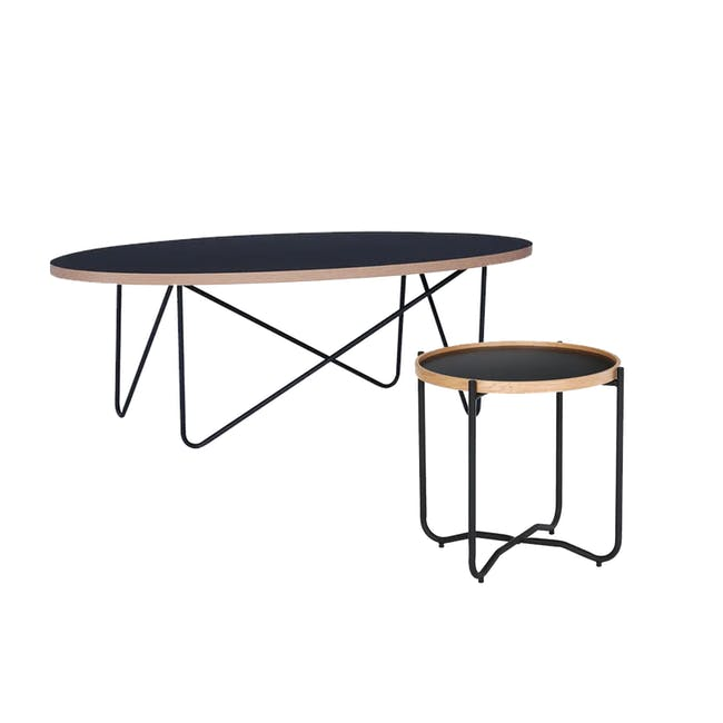 Seifer Coffee Table with Tanix Side Table - 0