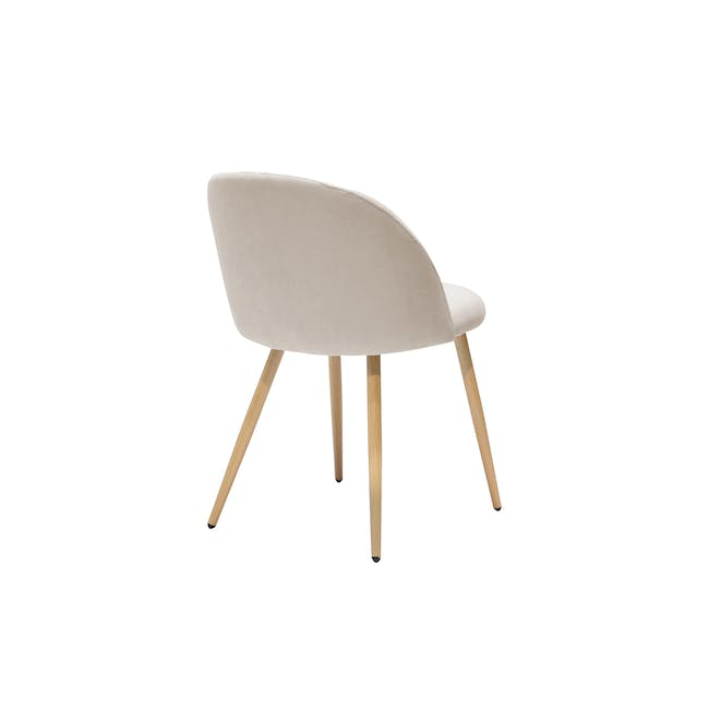 Irma Extendable Table 1.6m with 4 Chloe Dining Chairs in Wheat Beige and Pale Grey - 19