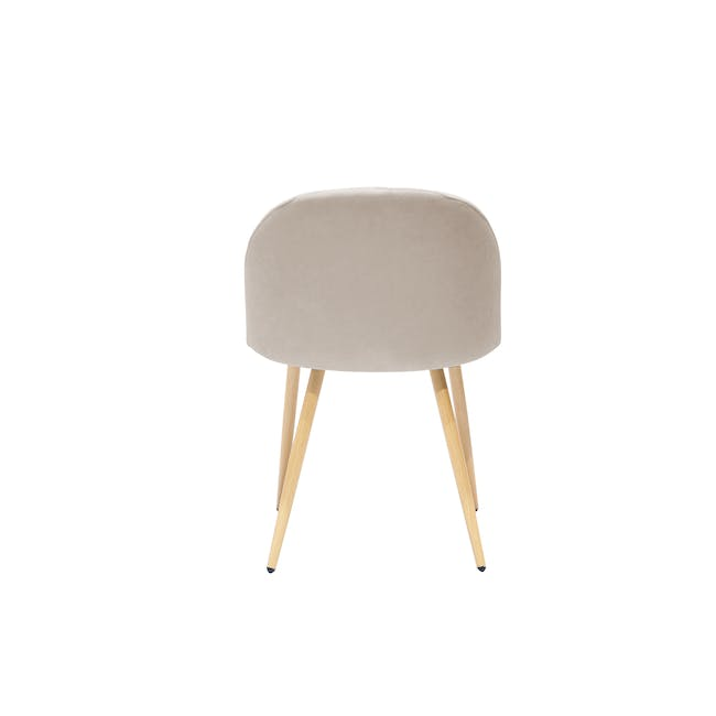 Irma Extendable Table 1.6m with 4 Chloe Dining Chairs in Wheat Beige and Pale Grey - 12