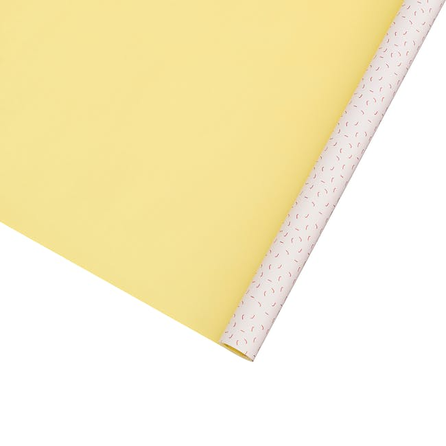 Gift Wrapping Paper - Yellow and Red Confetti - 5m - 0
