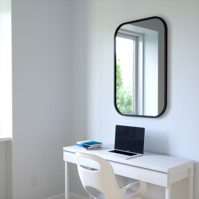 Hub Rectangle Mirror 61 x 91 cm - Black - 5