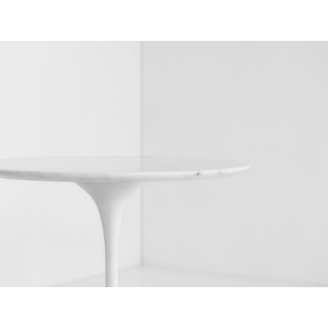 Mistra Marble Side Table - White - 3