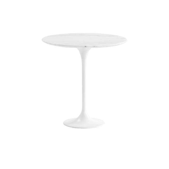 Mistra Marble Side Table - White - 0