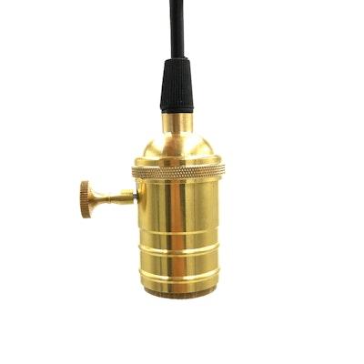 Vintage Pendant Light Holder - Brass - Image 2